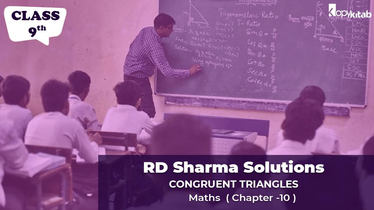 RD Sharma Solutions Class 9 Maths Chapter 10