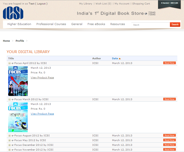 Kirjasto eBook library module