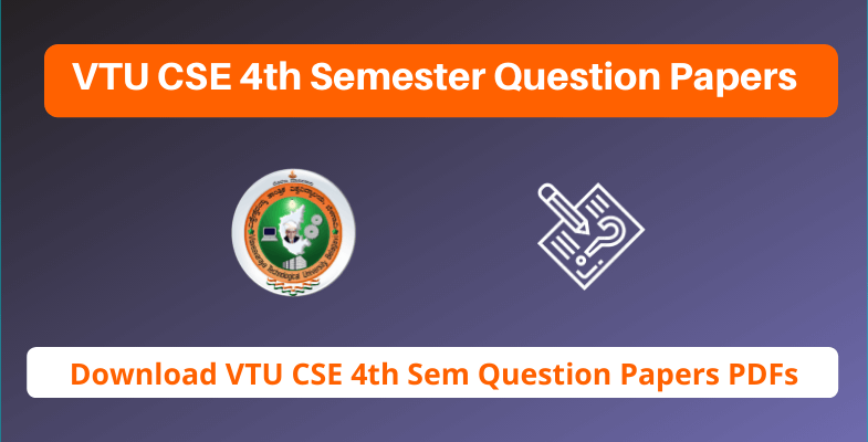 VTU CSE 4th Semester Question Papers