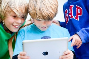 Kids Delighted while reading eBooks