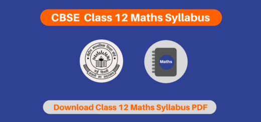 CBSE  Class 12 Maths Syllabus
