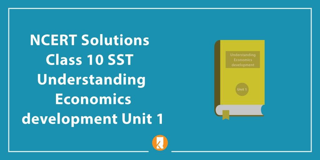 NCERT Solutions Class 10 SST Understanding Economics development Unit 1