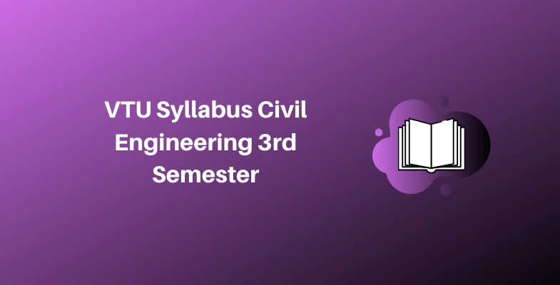 VTU Syllabus Civil Engineering 3rd Semester