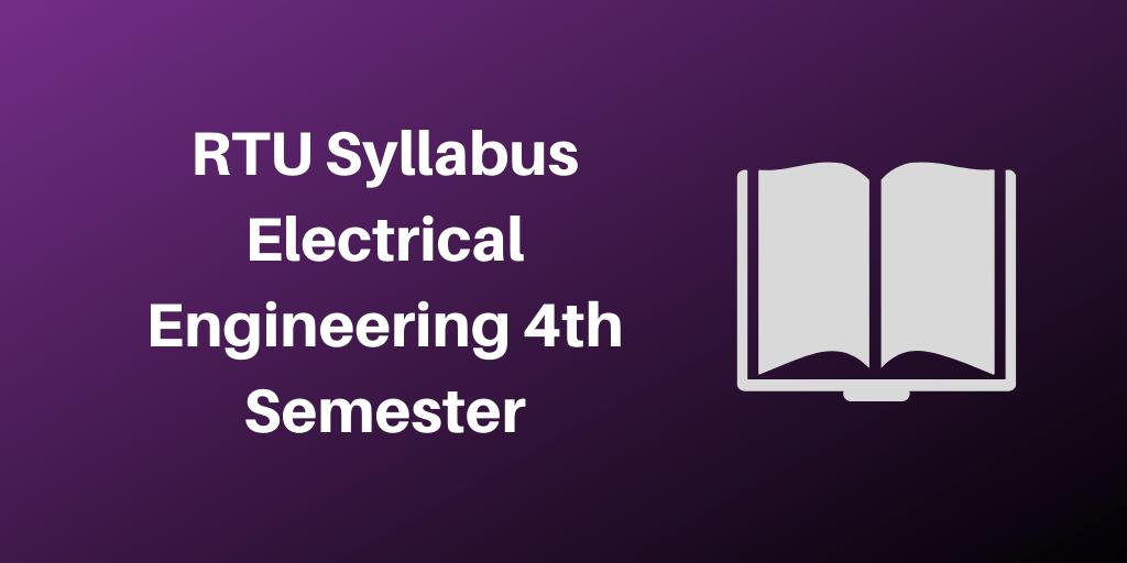 RTU Syllabus Electrical Engineering 4th Semester