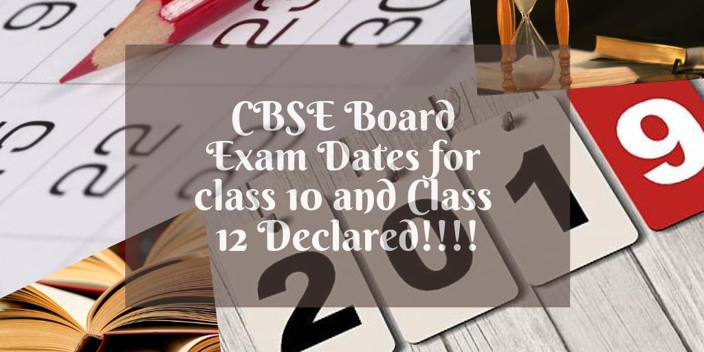 CBSE Board Exam Dates
