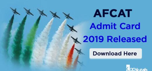 AFCAT Admit Card 2019