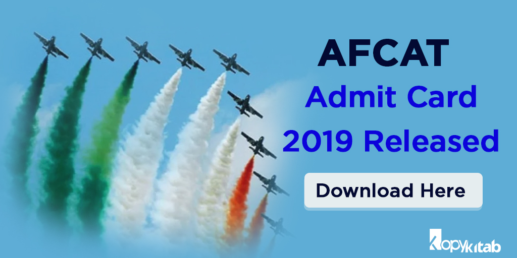 AFCAT Admit Card 2019