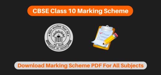 CBSE Class 10 Marking Scheme For All Subjects