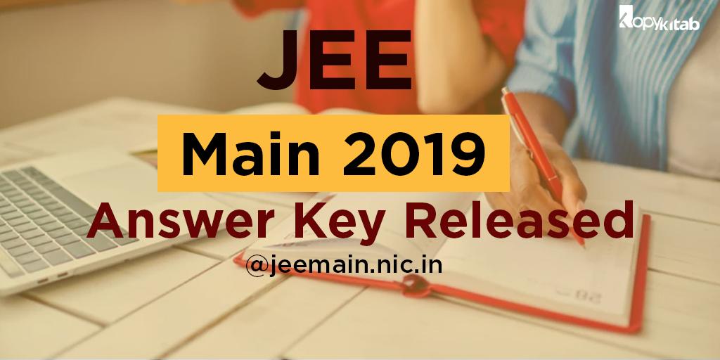 JEE Main 2019 Answer Key