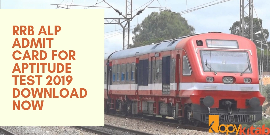 RRB ALP Admit Card for Aptitude Test 2019