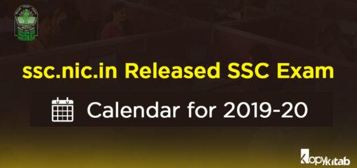 SSC Exam Calendar 2019-20