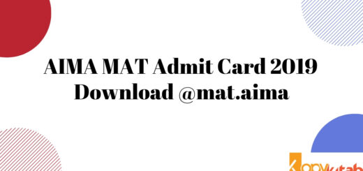 AIMA MAT Admit Card 2019