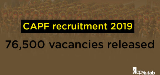 CAPF Recruitment 2019