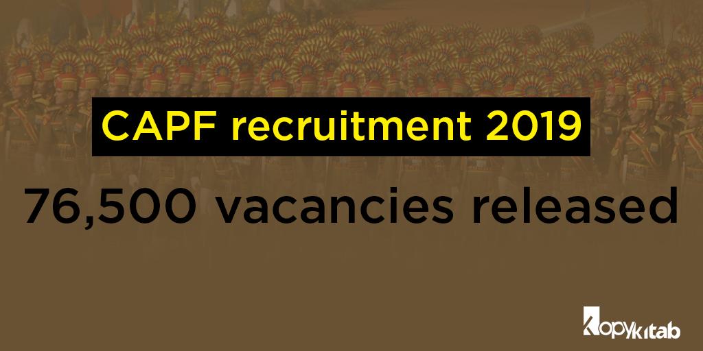 CAPF Recruitment 2019