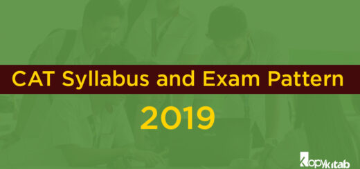 CAT Syllabus and Exam Pattern 2019