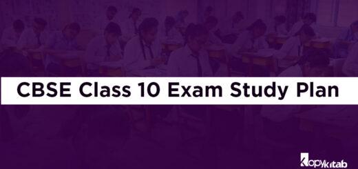 CBSE Class 10 Exam Study Plan