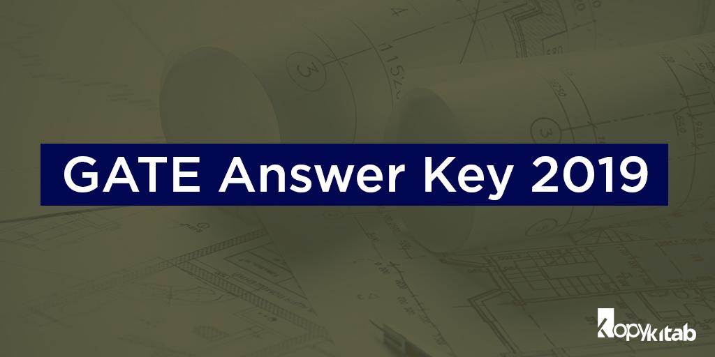 GATE Answer key 2019