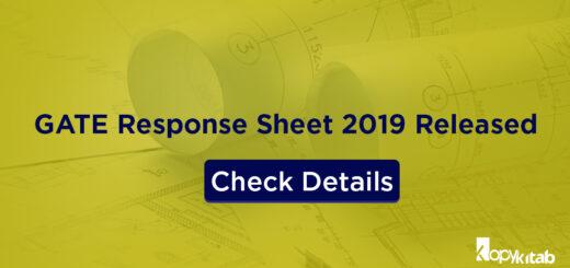 GATE Response Sheet 2019