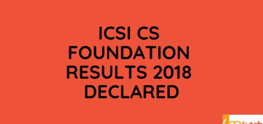 ICSI CS Foundation Results 2018 Declared