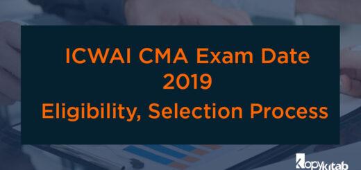 ICWAI CMA Exam Date 2019