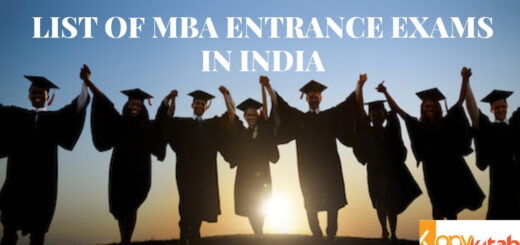 LIST OF MBA ENTRANCE EXAMS IN INDIA