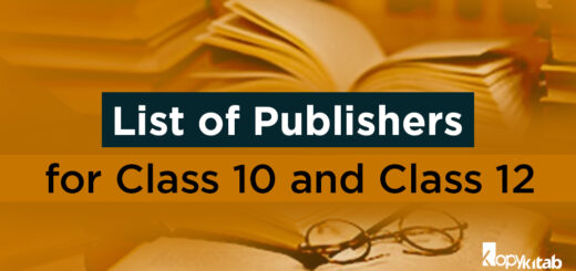 List of publishers for Class 10 and 12
