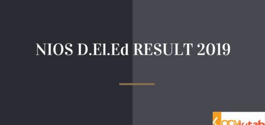 NIOS D.El.Ed Result 2019