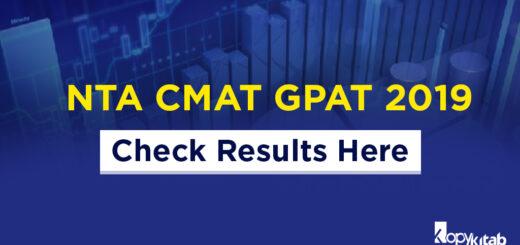 NTA CMAT and GPAT 2019
