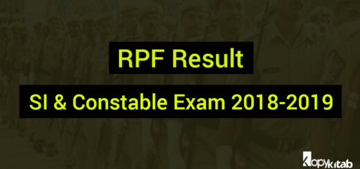 RPF Result SI & Constable Exam 2018-2019