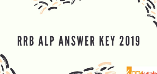 RRB ALP Answer Key 2019
