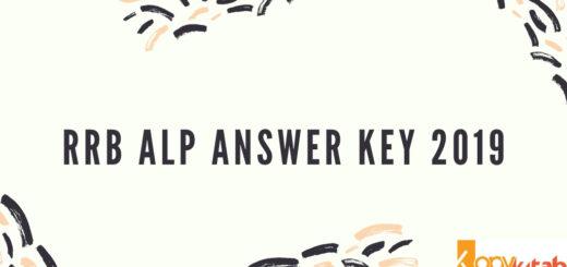 RRB ALP Answer Key 2019