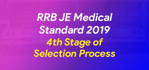 RRB JE Medical Standard 2019