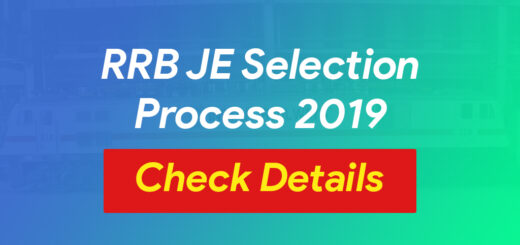 RRB JE Selection Process 2019