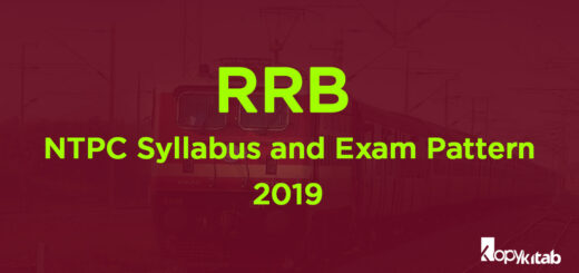 RRB NTPC Syllabus and Exam Pattern 2019