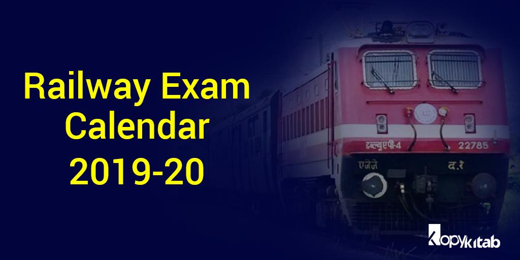 Railway Exam Calendar 2019-20