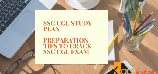 SSC CGL Study Plan