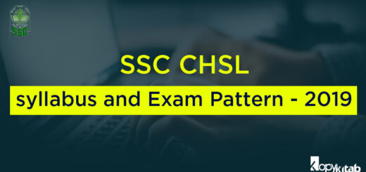 SSC CHSL Syllabus and Exam Pattern - 2019