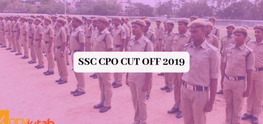 SSC CPO Cut off 2019