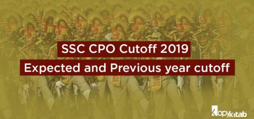 SSC CPO Cutoff 2019