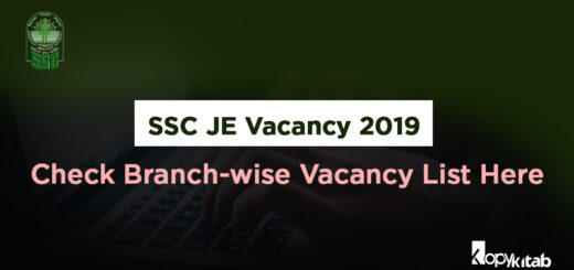 SSC JE Vacancy 2019