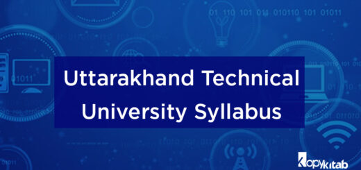 Uttarakhand Technical University Syllabus
