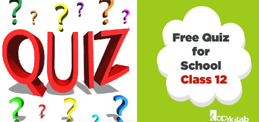 free quiz for school-Class 12