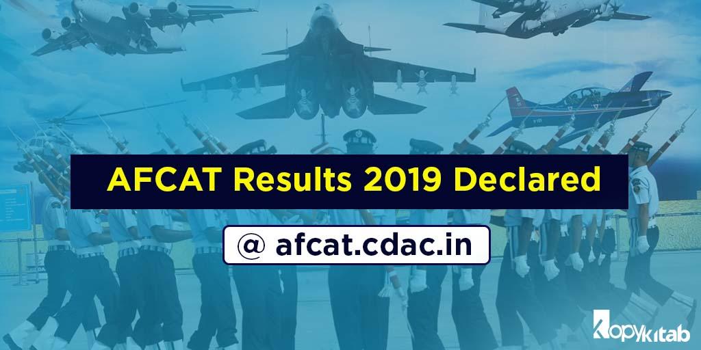 AFCAT Results 2019