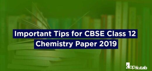 CBSE Class 12 Chemistry