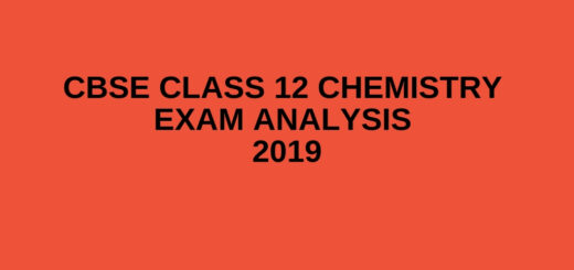 CBSE Class 12 Chemistry Exam Analysis 2019