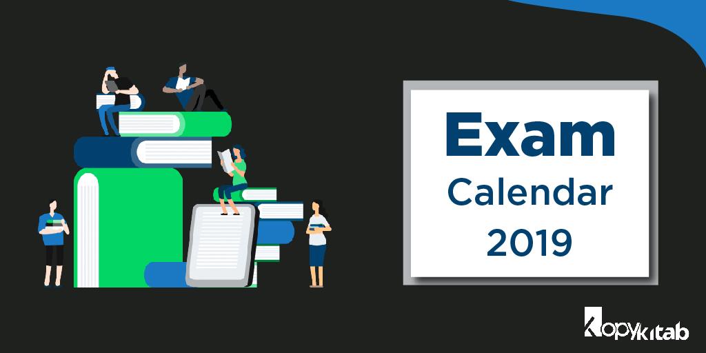 Exam Calendar 2019