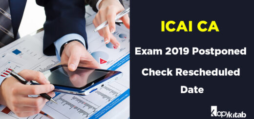 ICAI CA Exam 2019 Postponed