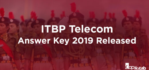 ITBP Telecom Answer Key 2019 Released