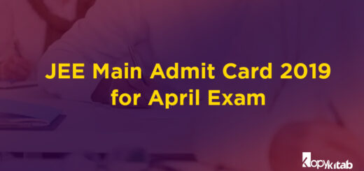 JEE Main Admit Card 2019 for April Exam