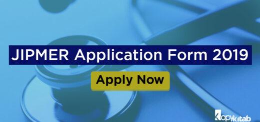 JIPMER Application Form 2019